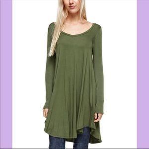 🥳HOST PICK🥳  Olive Green Long Sleeve Dress